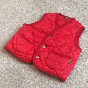 Red Outdoor Vest with Pockets 12-18